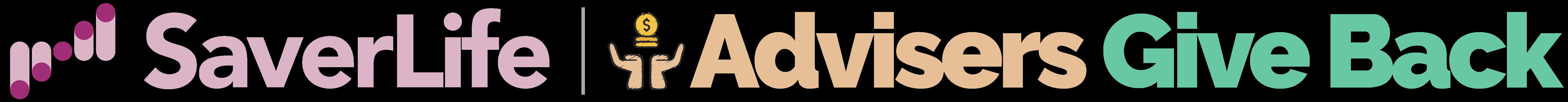 SaverLife AdvisersGiveBack logos.001
